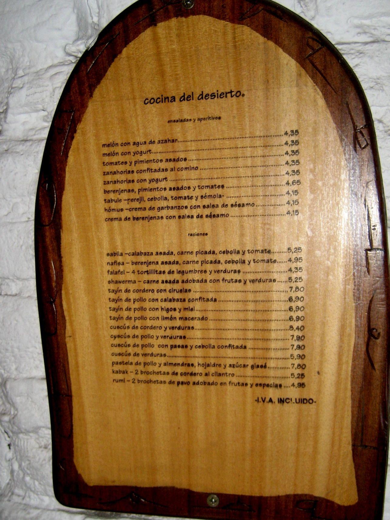 Comida arab madrid life and style madrid for La cocina del desierto madrid