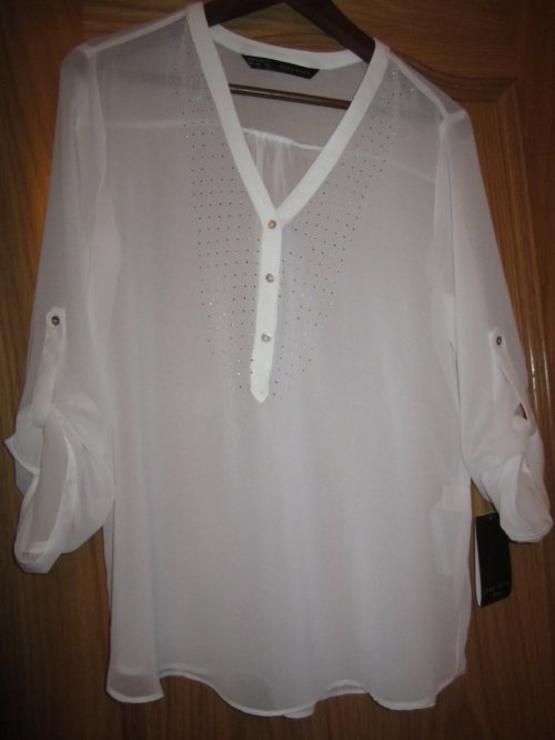 Zara Rebajas White Floaty Shirt