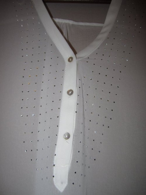 Zara Rebajas White Floaty Shirt  Closeup