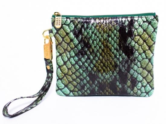 Emerald croc pattern