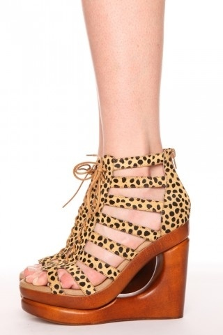 Lachey Leopard Wedge