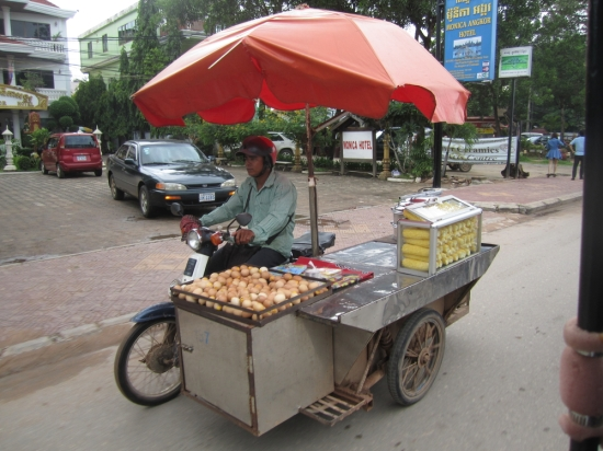 And this man has a restaurant as a side car...amazing