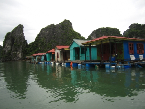 The floating houses