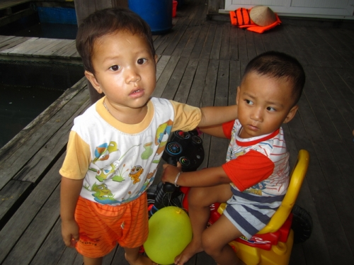 Local boys in the fishing village