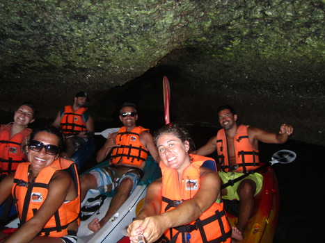 "Kayaking at Anthong National Park. Part of the movie ""The Beach"" was filmed in this cave."