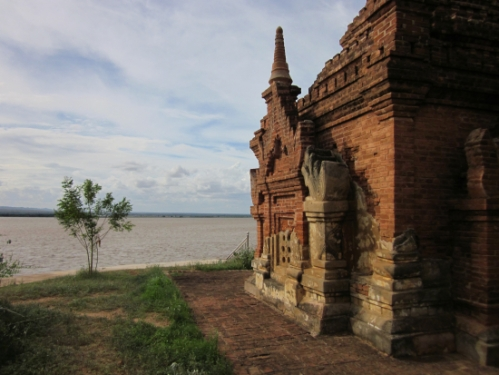 A temple along the river