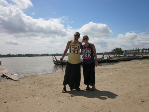 Us in front of the U-Bein bridge