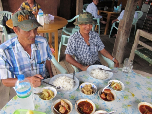 Lunch with our guide, Challaou, and driver, Mr. A