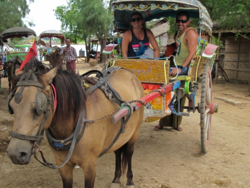 Horse and buggy in Inwa