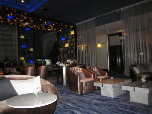 The VIP movie theatre lounge