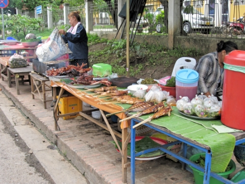 Some street food: Mekong river fish