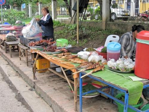 Some street food: Mekong river fish