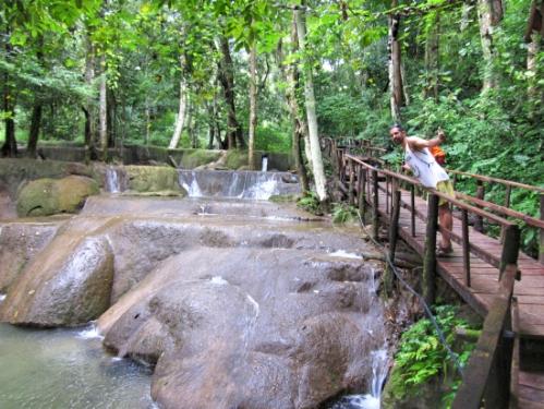 The Tad Sae waterfalls