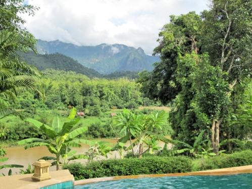 The elephant village also had a swimming pool...with just some average views...!