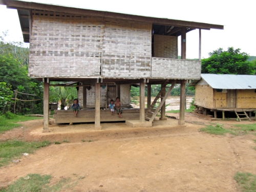 A traditional Khmu house