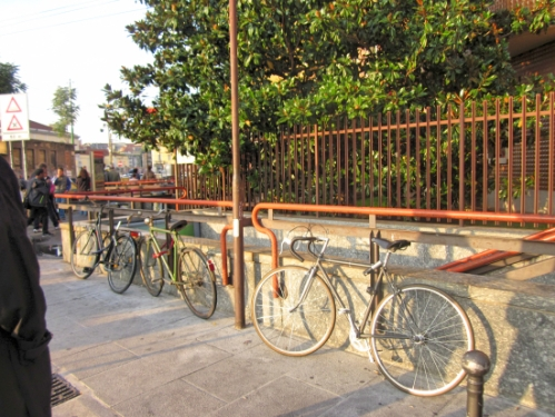 Bikes in a group