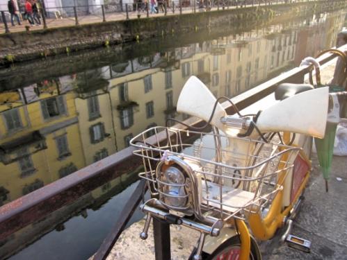 Part of Milan's bike system