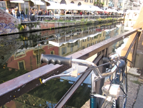 Handlebars along the Navigli Grande
