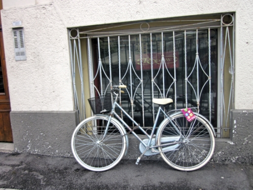 This bike was locked here for the whole four days I was in Milan