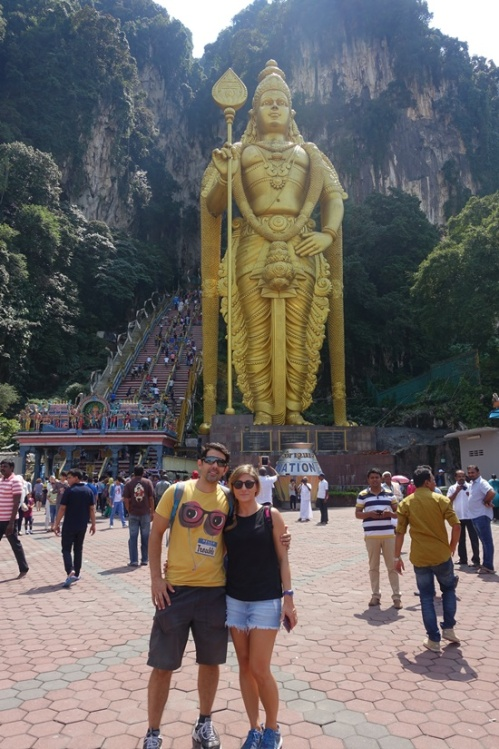 The Batu caves.