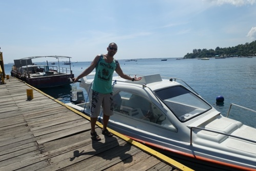 Jorge and our private speedboat.