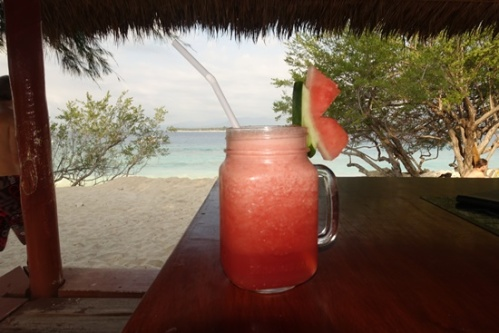 A watermelon smoothie.
