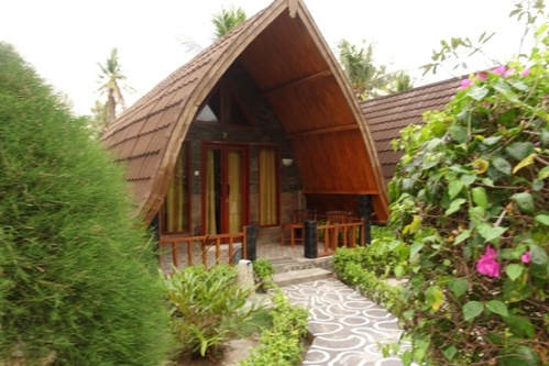 Our hut at the Cha Cha Bungalows.