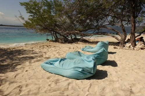 Beanbag chairs on the beach? Don't mind if I do!