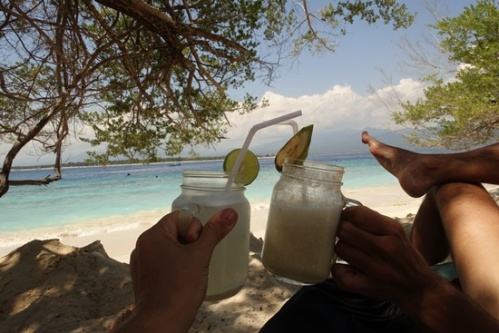 Cheers from the Gili Islands.