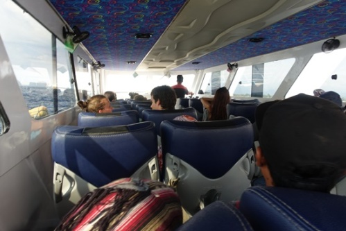 Our return trip on the group shuttle boat.