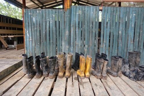 Boots after a muddy trek!