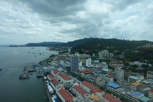 The view of Sandakan from our room.