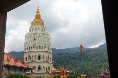 The famous pagoda, with its three design styles.