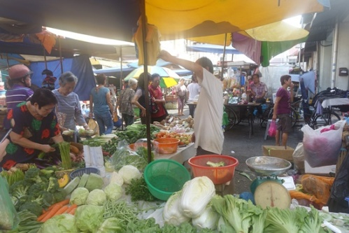 The chaos of the market.